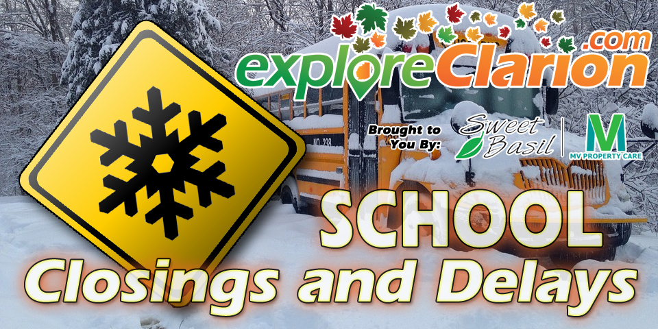 School closing delay logo mid