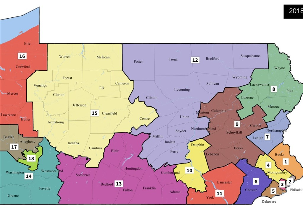 Pennsylvania Supreme Court Issues New Us Congressional Map For - Pennsylvania-on-the-us-map