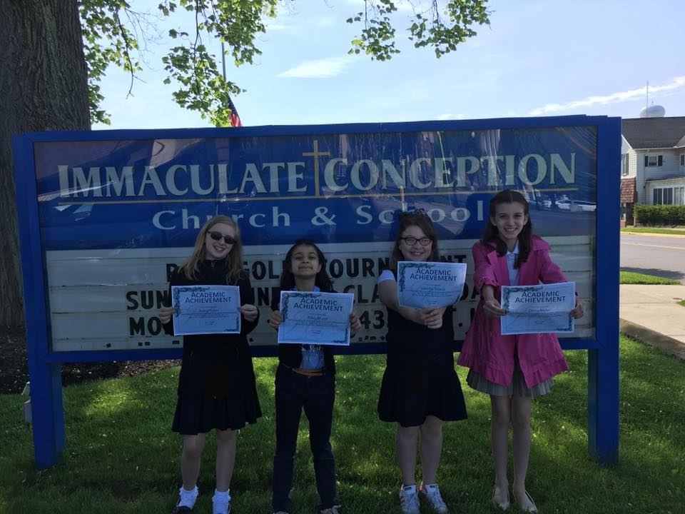 Congratulations to Immaculate Conception's Honors Banquet attendees. Courtesy of ICClarion.