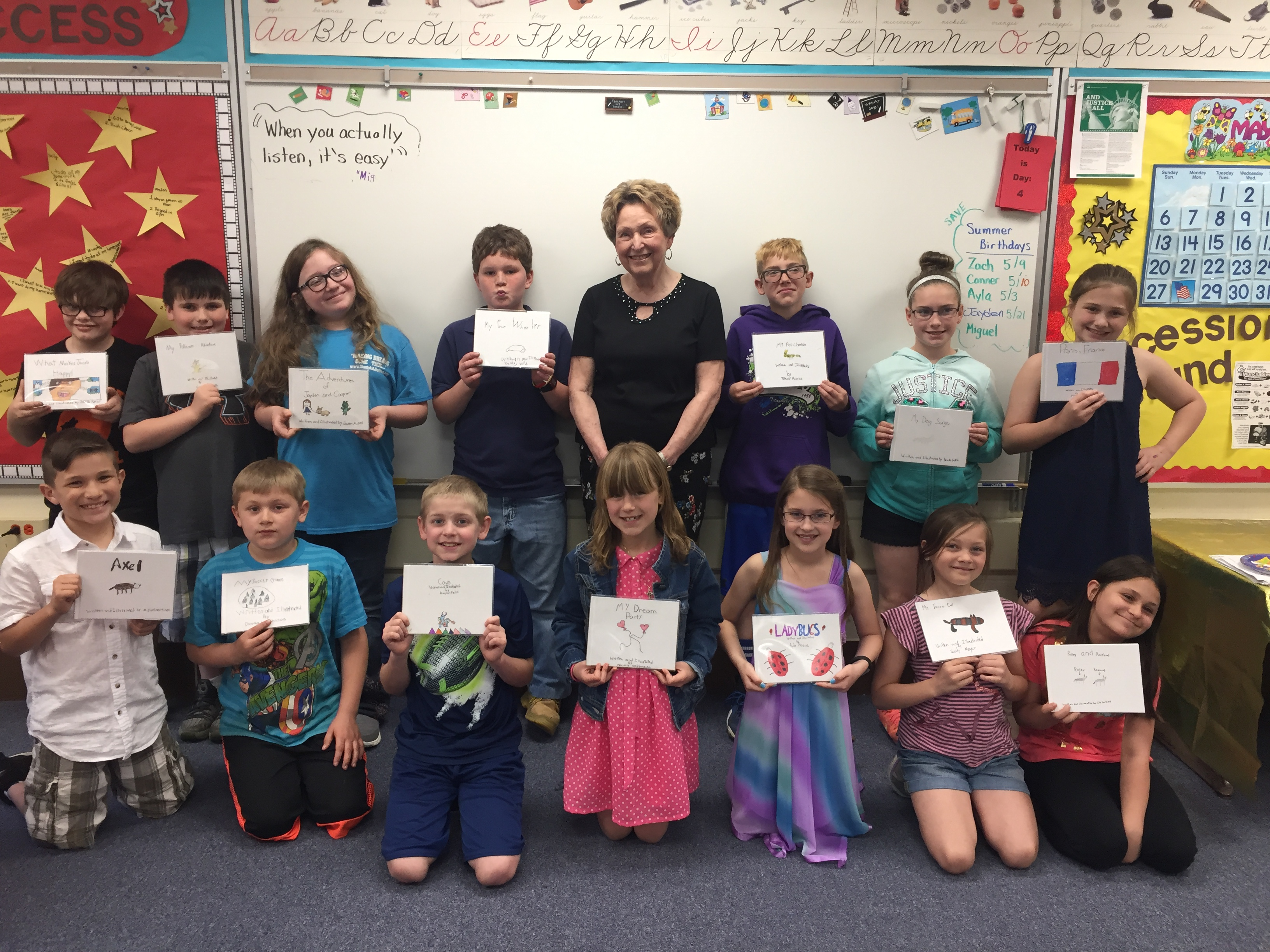 Mrs. D's class with Mrs. Hall