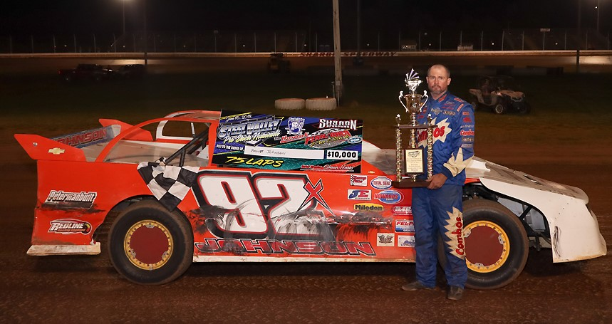 Brent Johnson of Brookville took home a whopping 10,000 dollars Saturday at Sharon Speedway (Zach Anthony Photo)