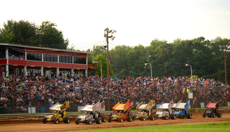 Sprint cars will return to Tri-City Raceway this Sunday for the first time in 2018. Photo by Rick Rarer