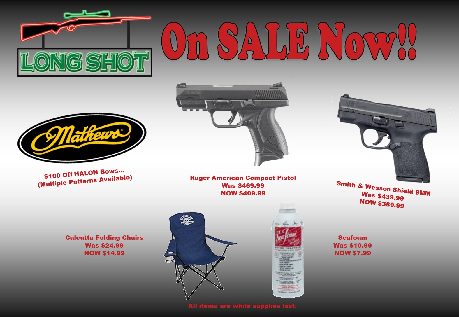 long shot july specials