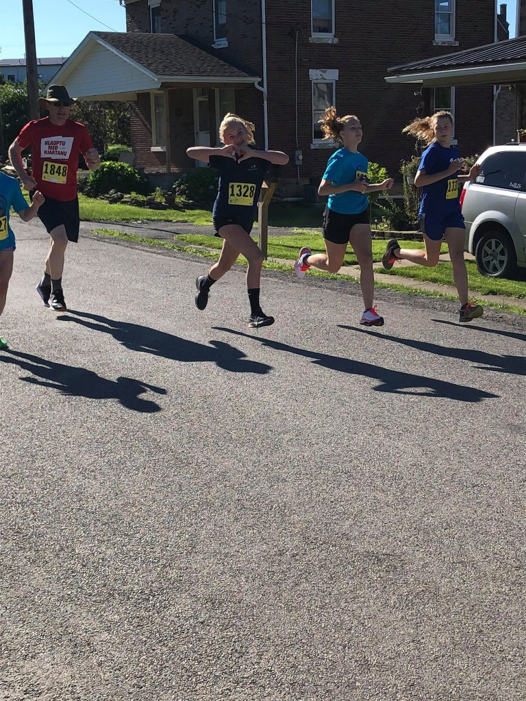 Ava Best, of Lucinda, starting the Liberty 5K. Submitted by Autumn Best.