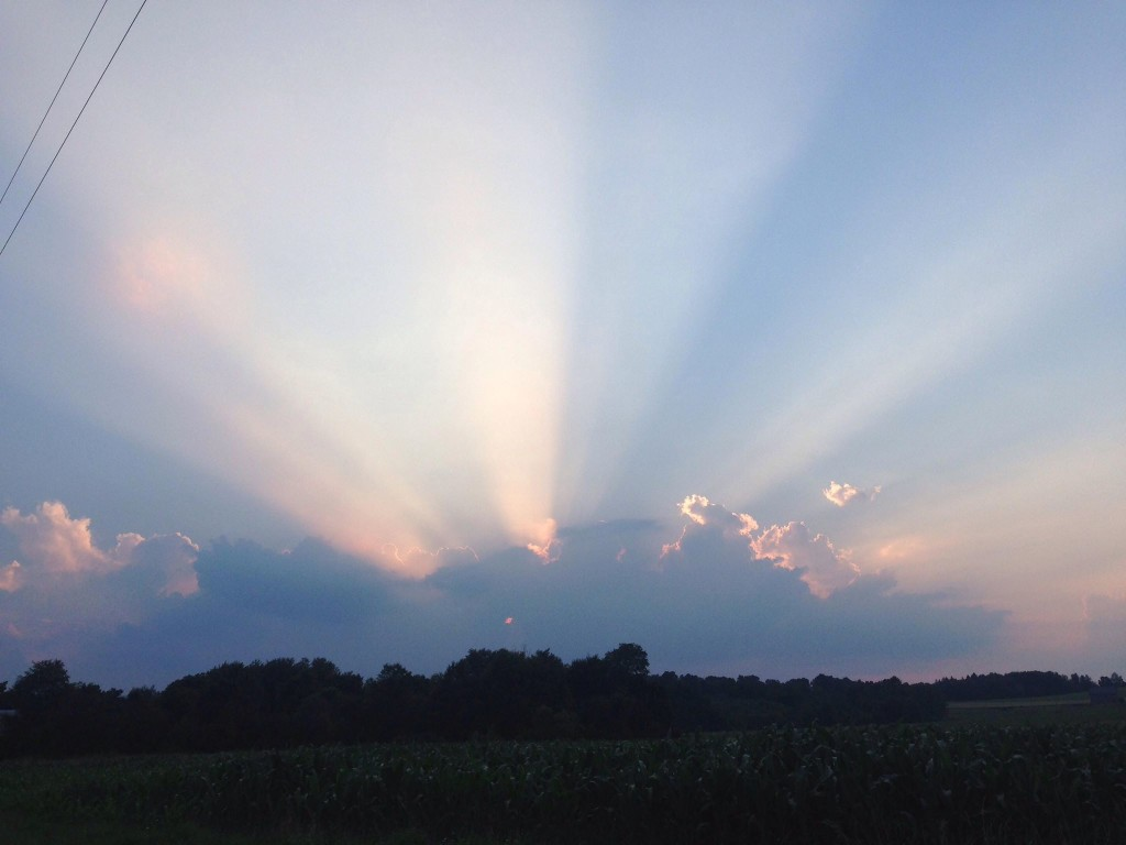 Beautiful sky over Toby Township. Submitted by Scott Campbell.
