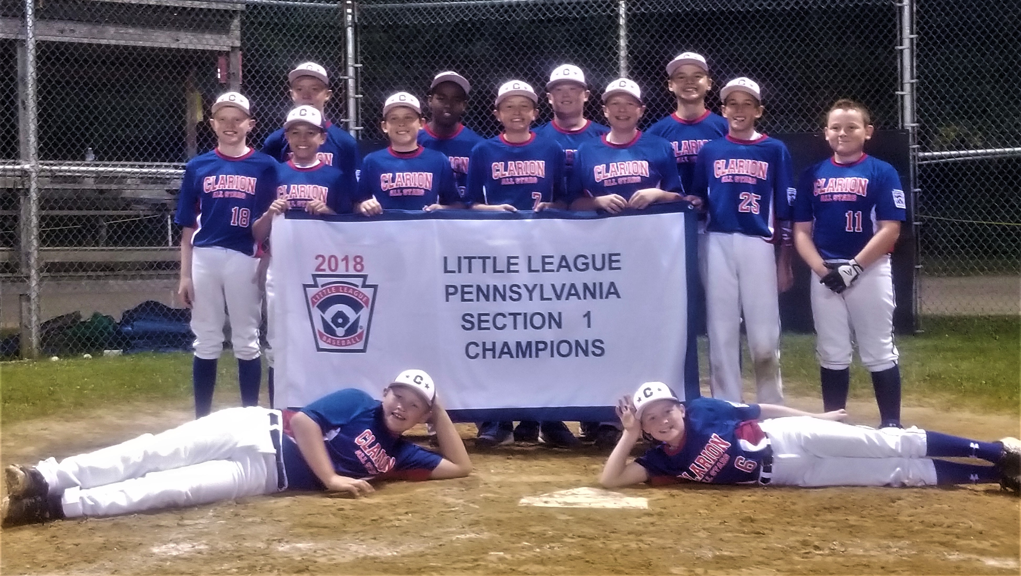 Clarion 12U Section 1 Champs 2018