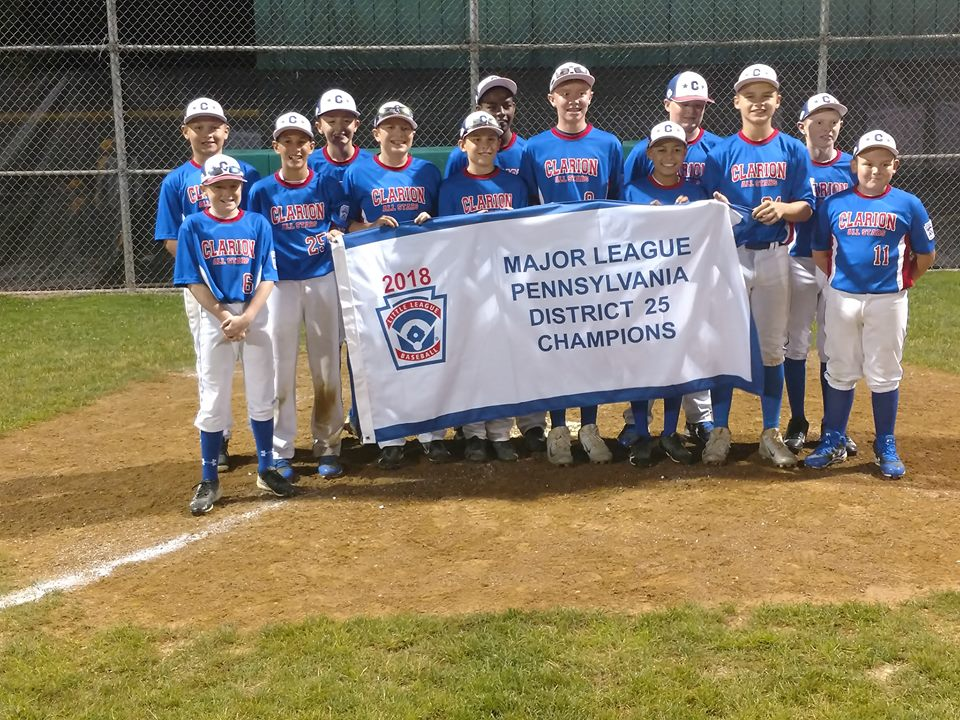 Clarion Little League 12 Champs 2018