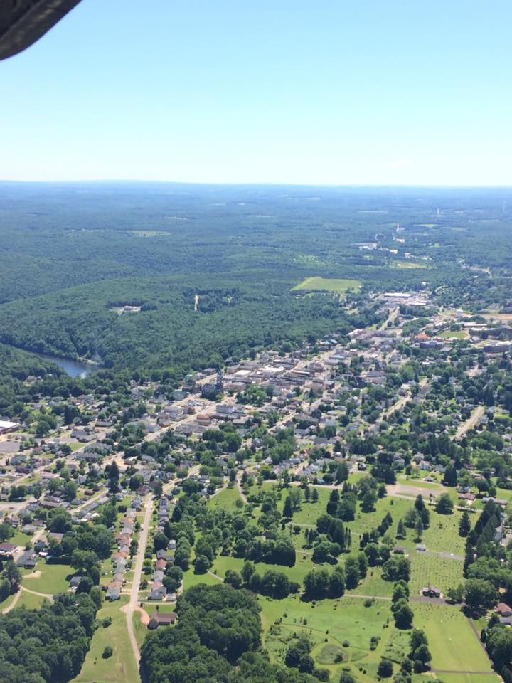 Clarion from above. Courtesy of Clarion County Airport KAXQ.