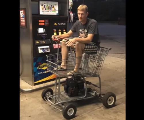 Motorized-shopping-cart-gases-up-in-Tennessee