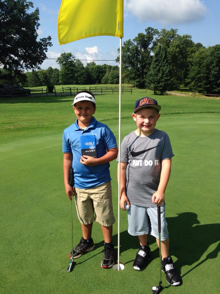Congratulations to Kaden Renninger and Kaden Davis for passing their US Kids Level 1 playing test. Courtesy of Hi-Level Golf Course.