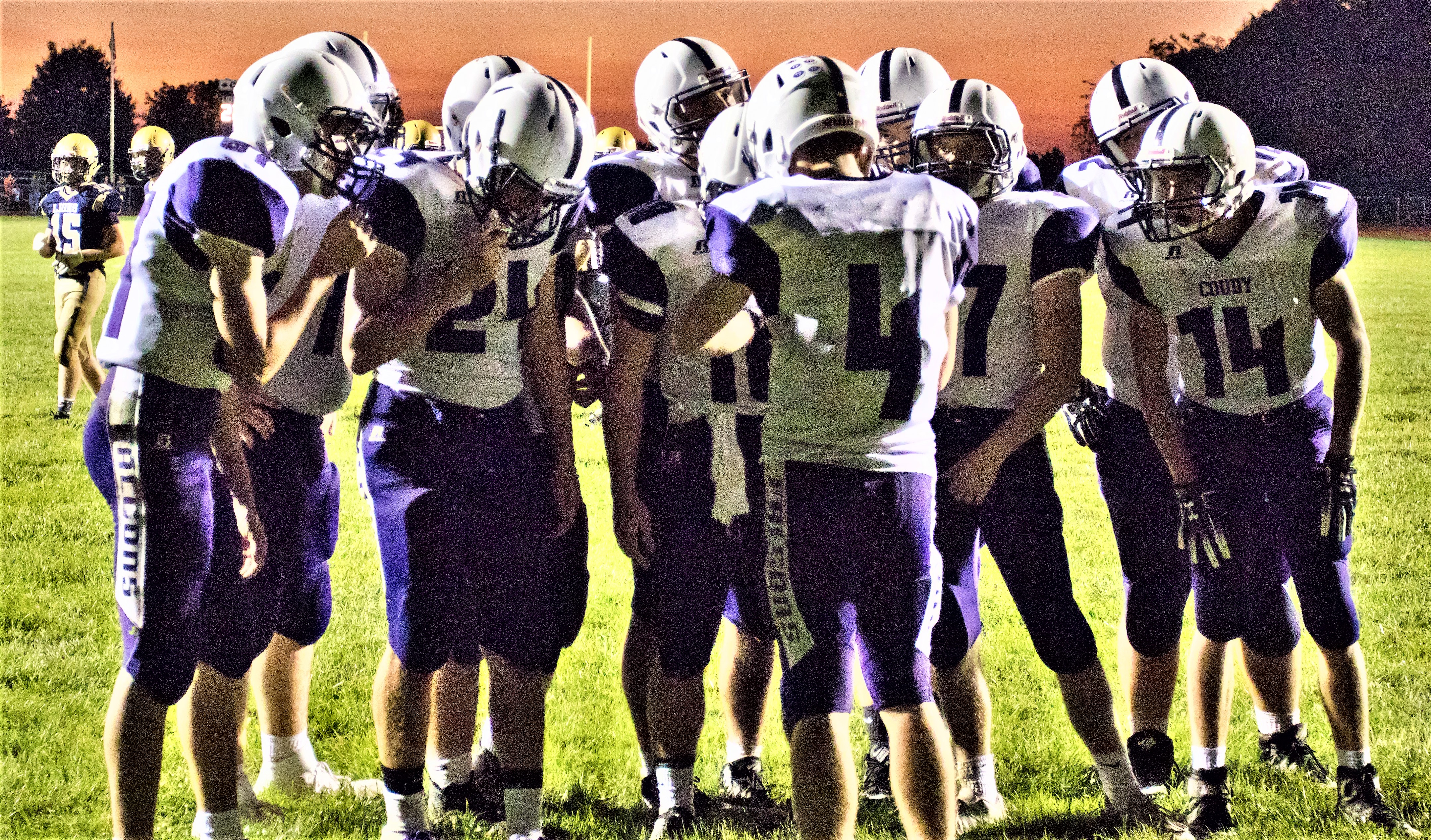 Coudersport huddle. Photo by Kyle Yates