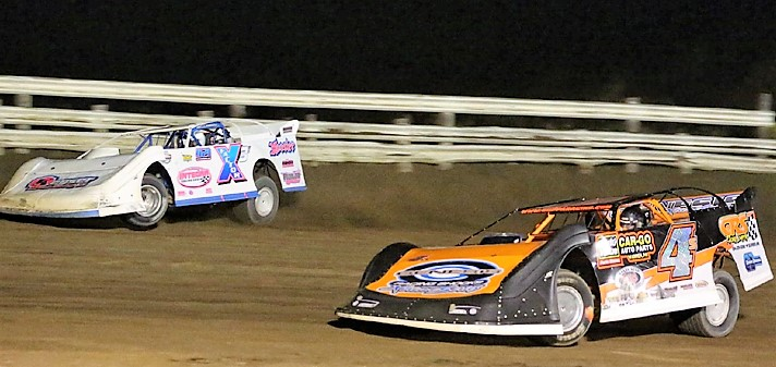 Dave & Wyatt Scott made history Saturday at Hummingbird Speedway with their wins (Penny Kay Photo)