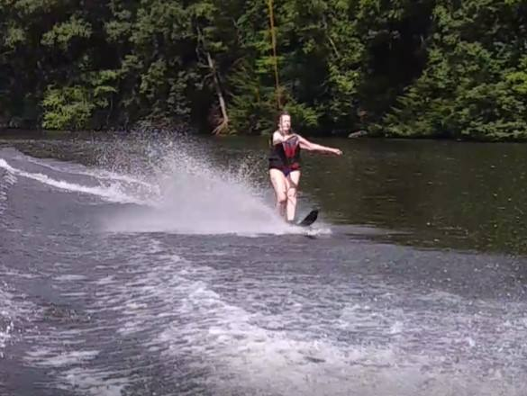 Mimi Vowinckel water skiing at 80 years old. Submitted by Renee Vowinckel.