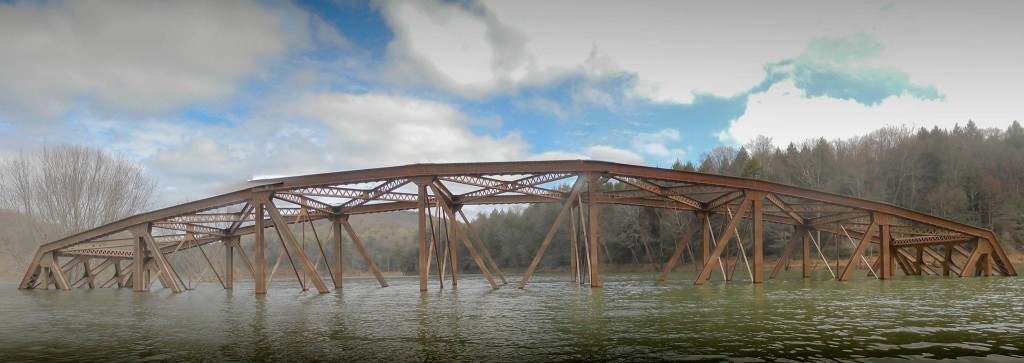 Nebraska Bridge submerged