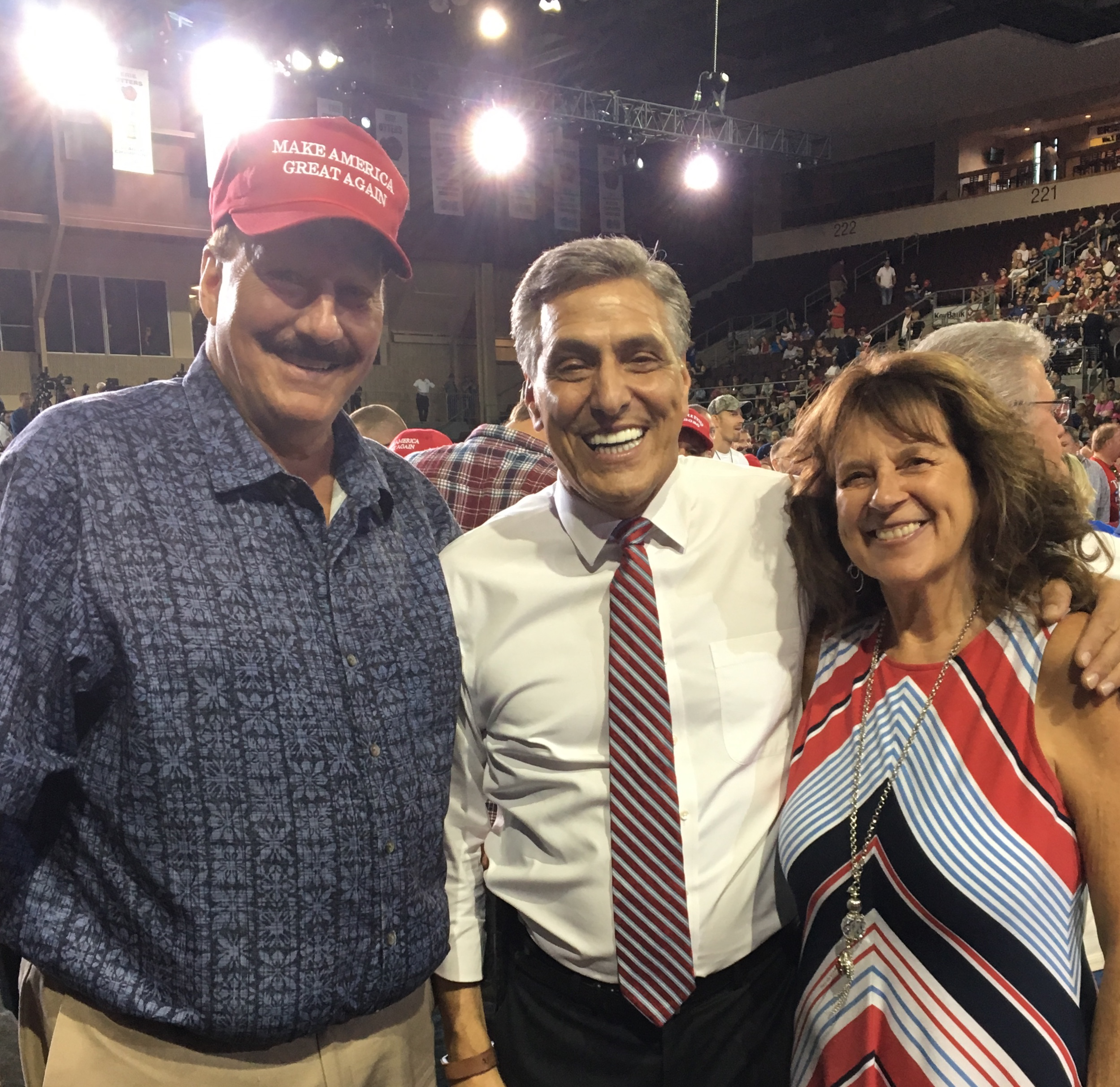 Don and Ruth Niederriter of Shippenville with GOP Senate Candidate Lou Barletta (middle)