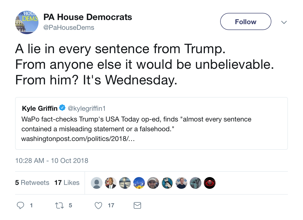 PA House Democrats Tweet