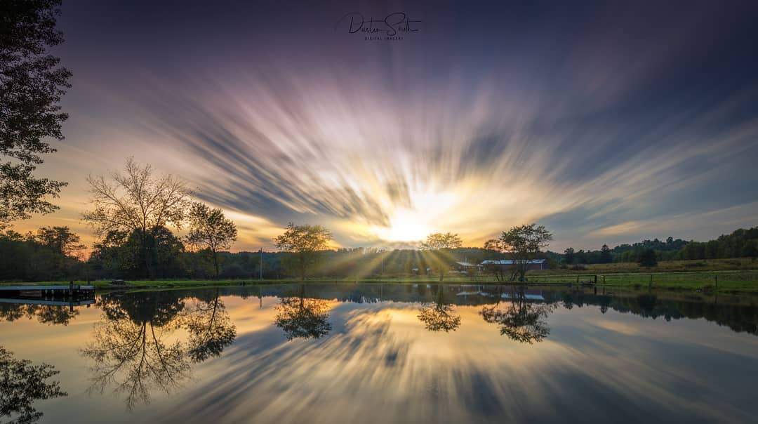 Sunset over Bowersox Farm Pond, New Bethlehem. Courtesy of Dustin Smith Digital Imagery.