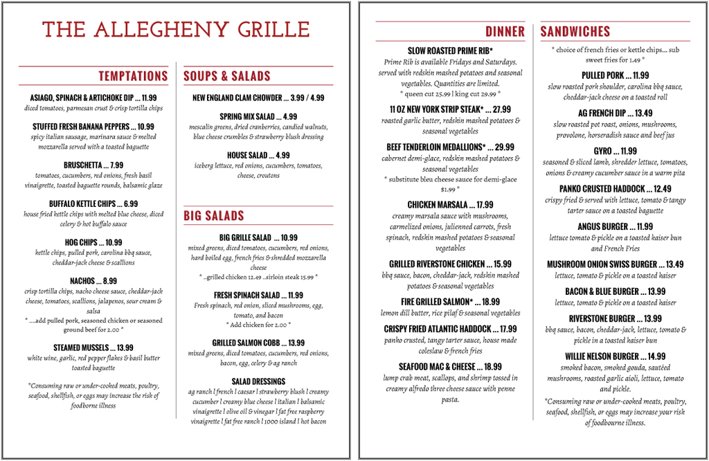 allegheny grille