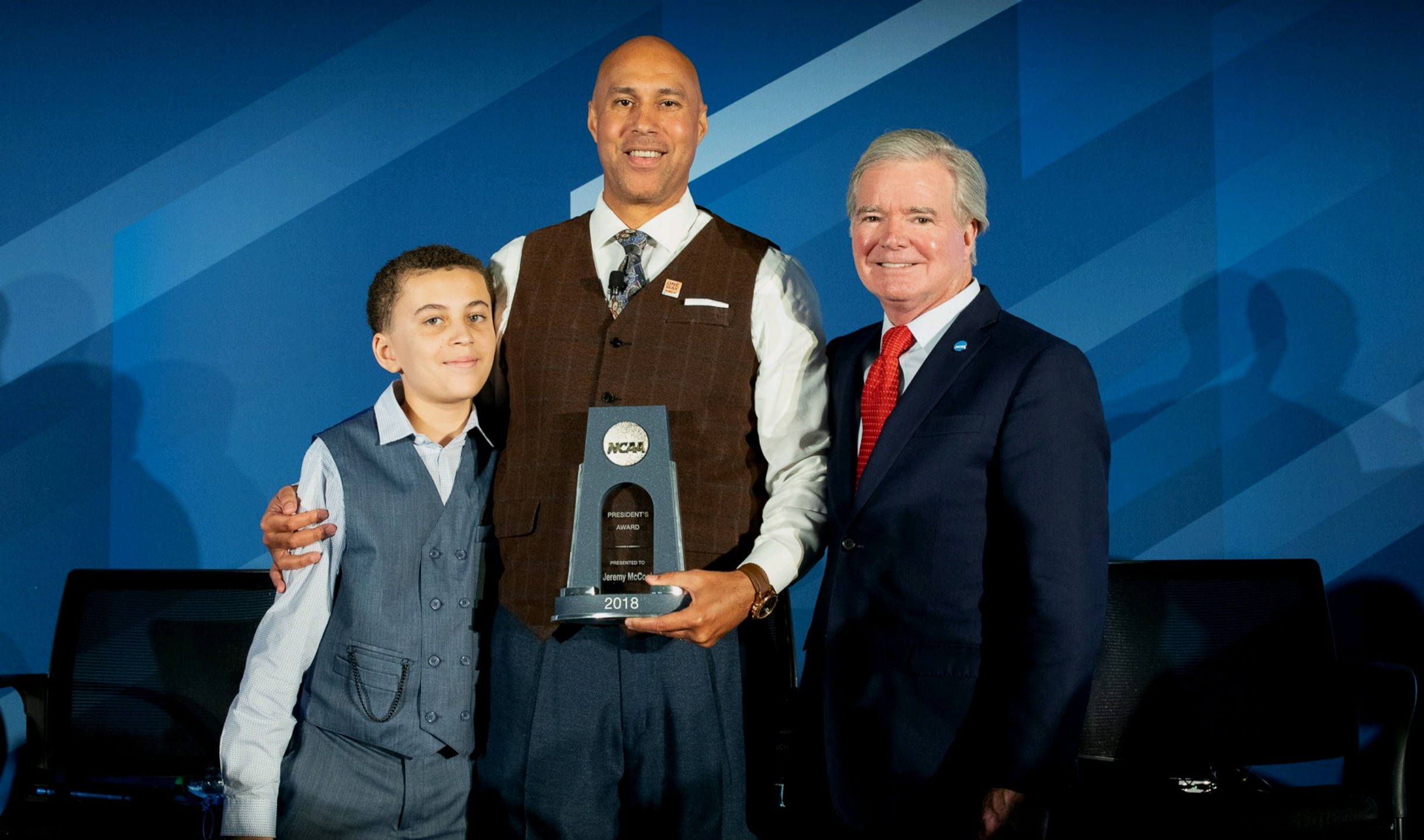 Jeremy McCool his son and Mark Emmert