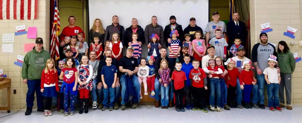 Redbank Valley Primary School students with parents and grandparents who attended their Veteran's Day program. Courtesy RVEA.
