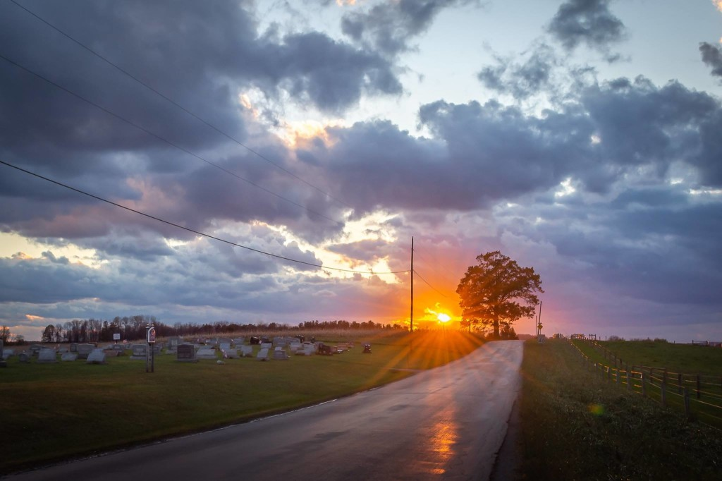 Starr Cemetery Sunset in Ninevah. Courtesy of John McCullough Photography.