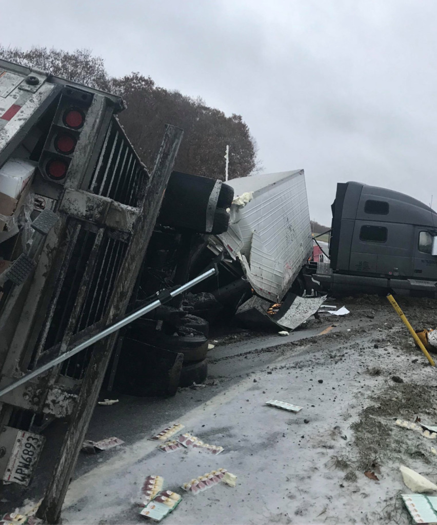 UPDATE: Exit 64 On-Ramp Remains Closed After Tractor Trailer