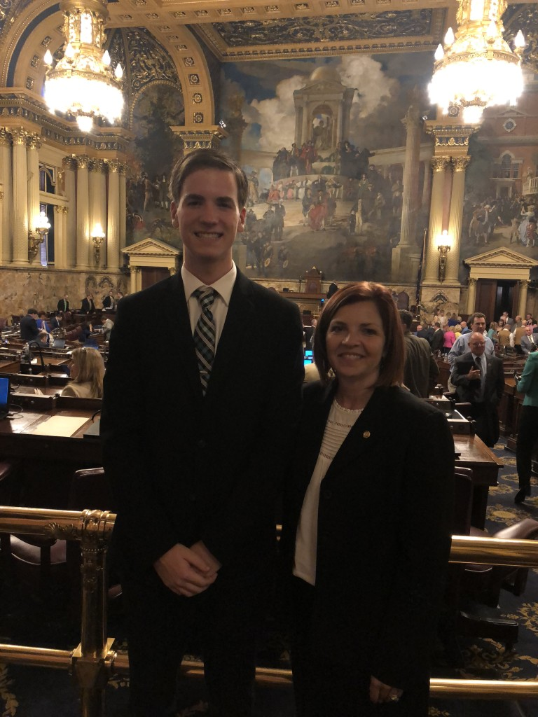 pictured with Pennsylvania State Representative Donna Oberlander