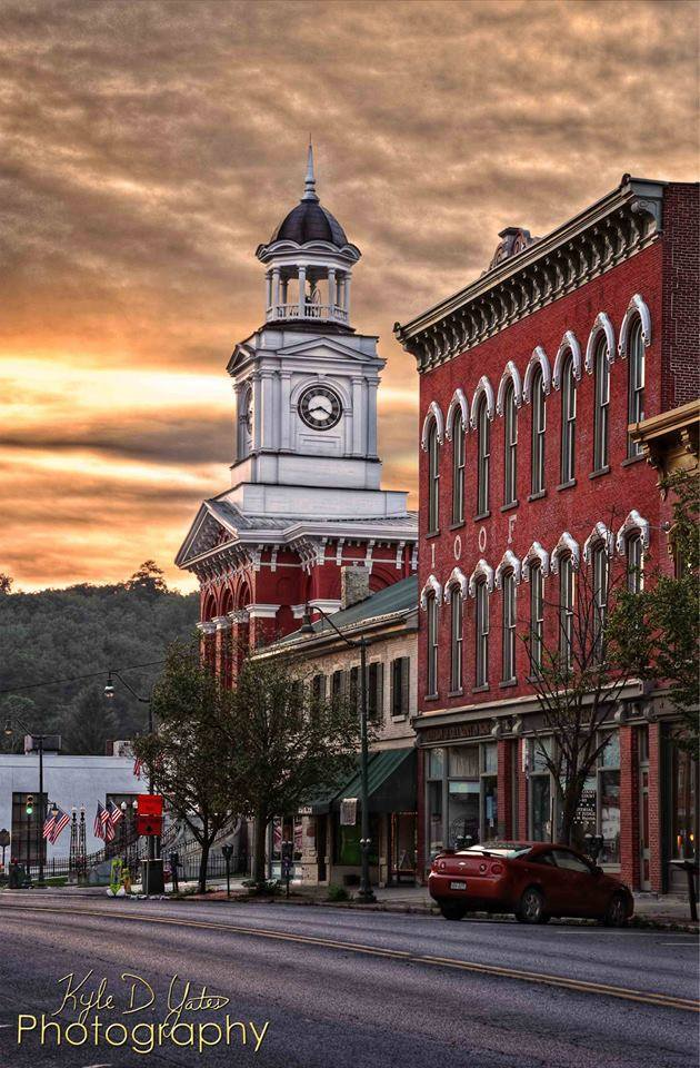 The Jefferson County Courthouse serves as the focal point of Brookville's historic Main Street. Photo: Kyle Yates Photography