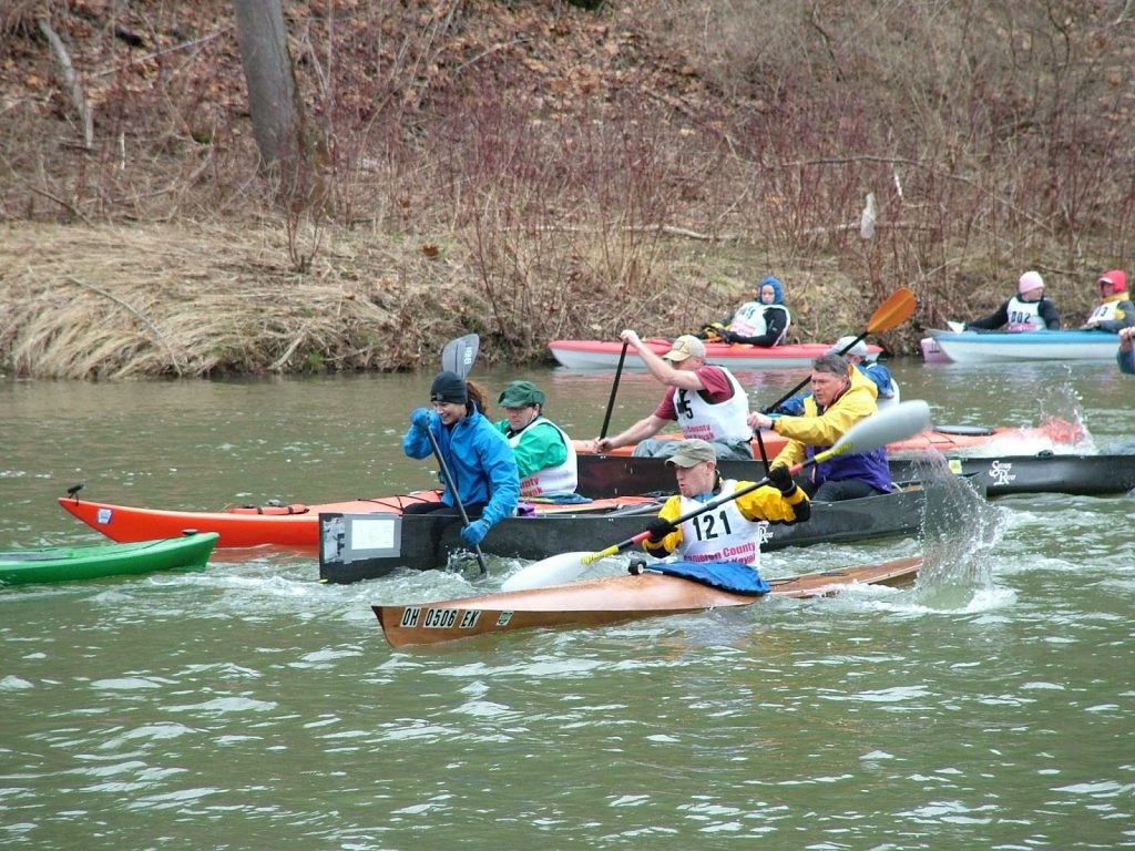 Paddlers hit the water in the former Cameron County Canoe and Kayak Classic, now reorganized as the Paddle Sinnemahone race.