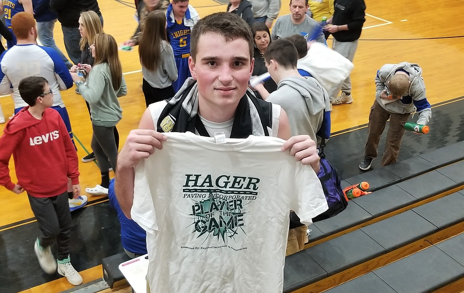 Brooks LaVan was the Hager Paving Player of the Game
