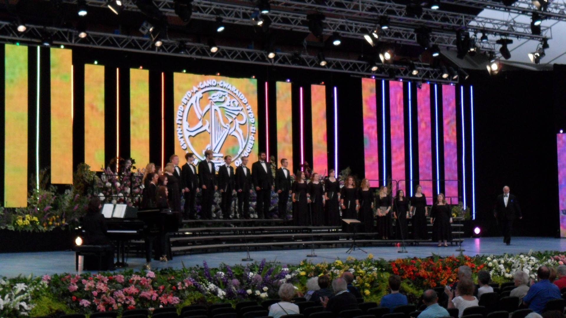 Clarion Chamber Singers at the Llangollen Eisteddfod in 2016.