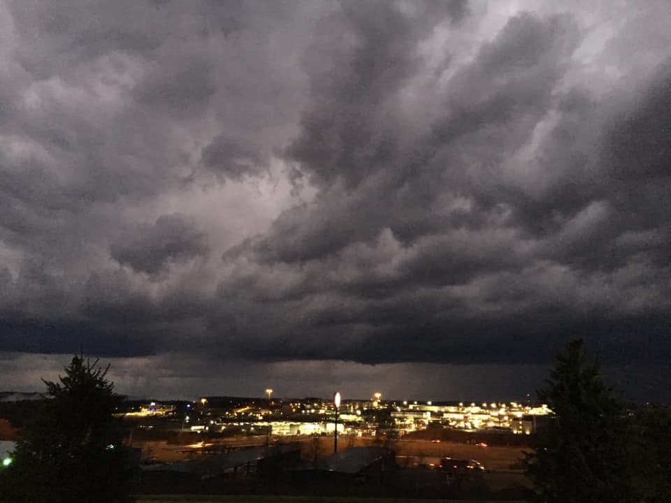 Stormy sky over Clarion. Submitted by Gary Winger.