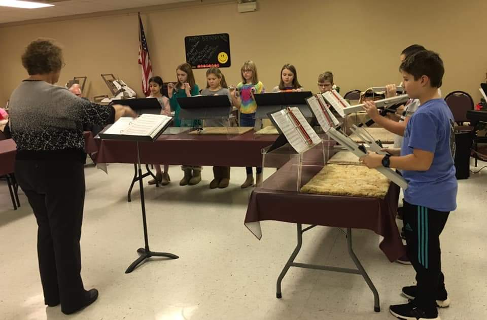 The I.C. School chime choir recently performed at the Senior Center. Courtesy of ICClarion