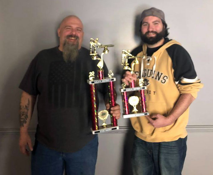 Congratulations, Steve Savory and Frankie Jacobson, for their first and third place finishes at the District Pool Shoot on January 5th. Photo courtesy .