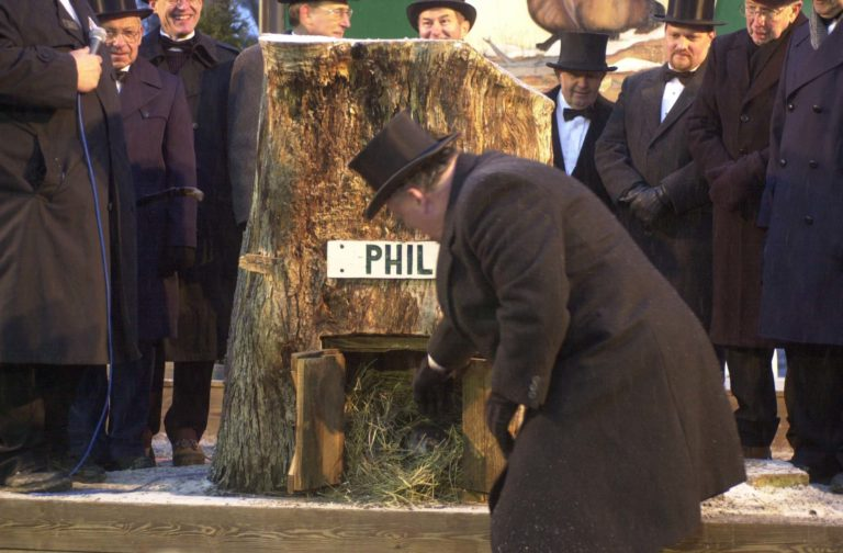 Groundhog Day in Punxsutawney.
