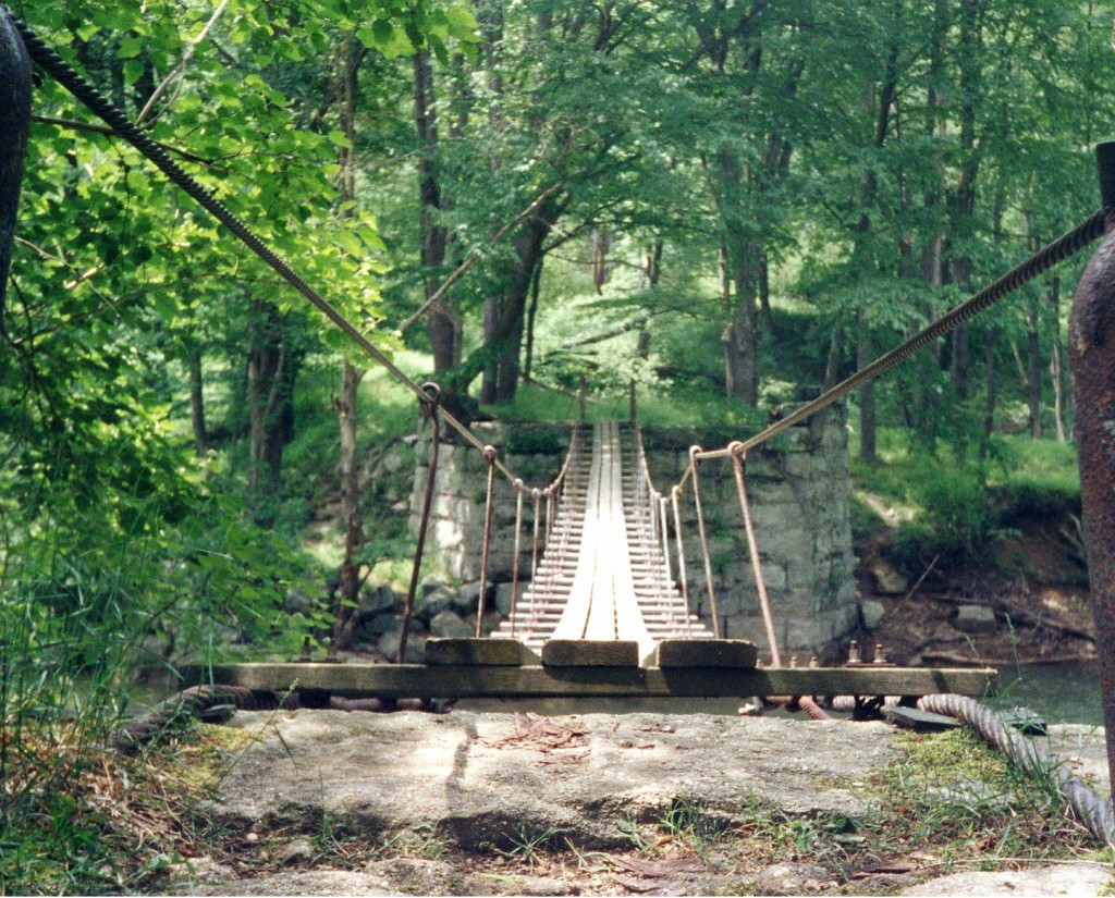 Swinging Bridge near the Little Toby Trail.