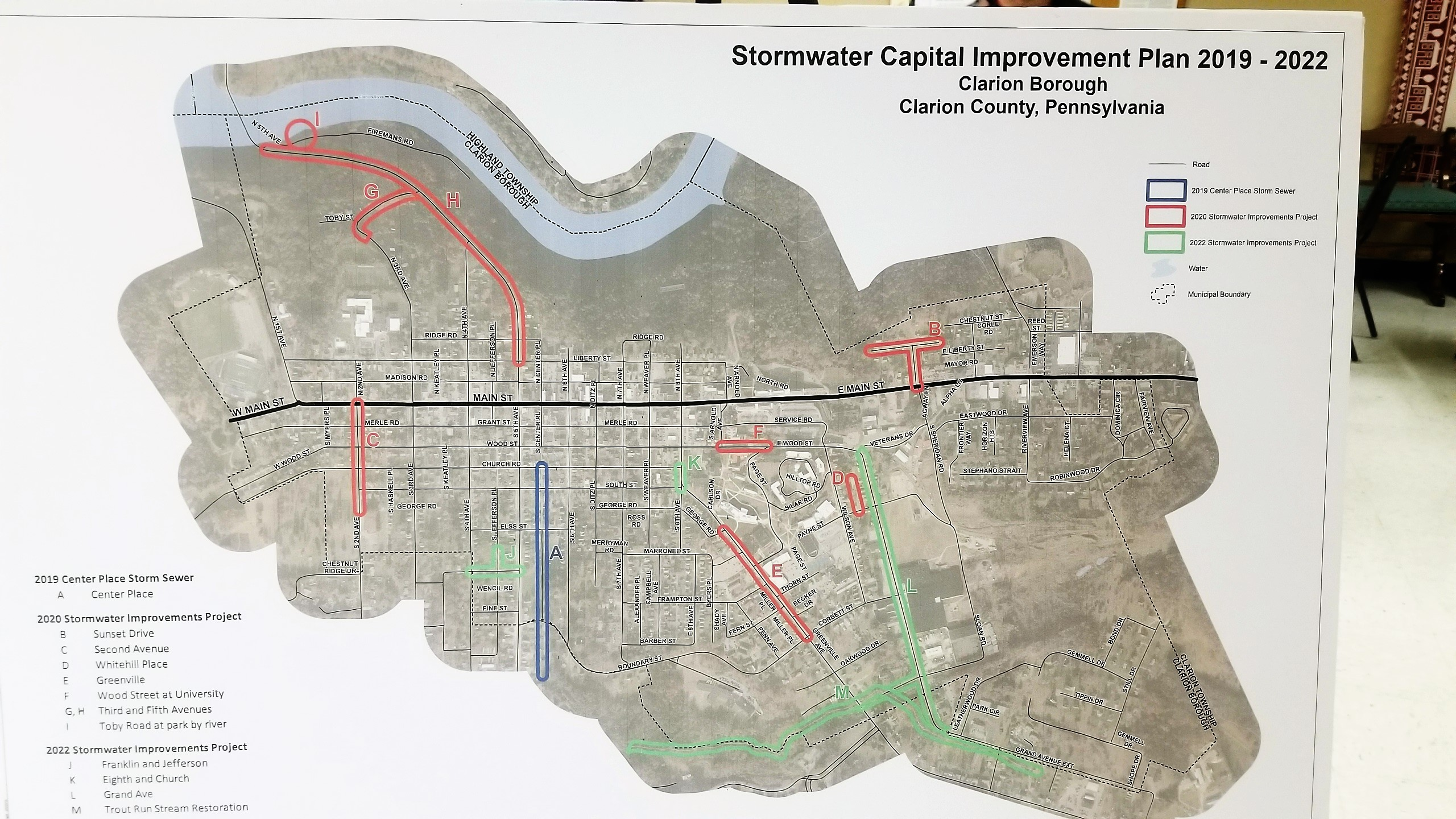 Proposed Stormwater projects Clarion borough