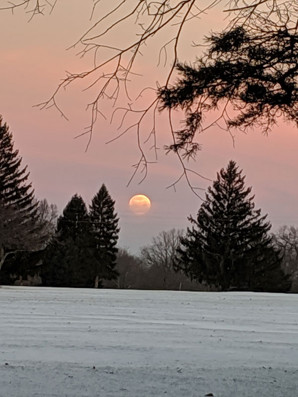 The moon over high level golf course. Submitted by Kelli Shick.