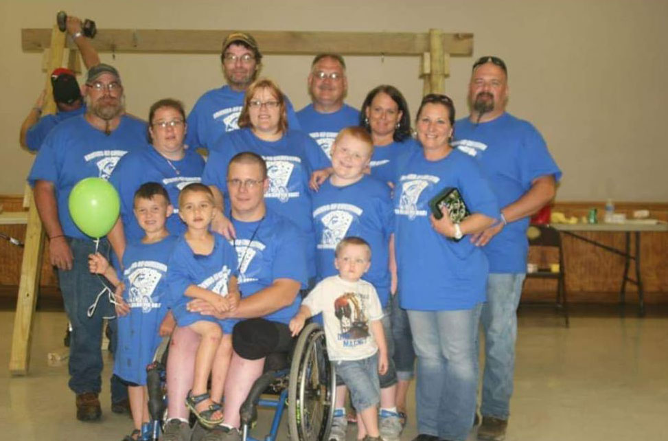 2014 recipients, the Miller family, whose two sons, Caden and Connor, both suffer from serious medical conditions, including neurofibromatosis and cerebral palsy.