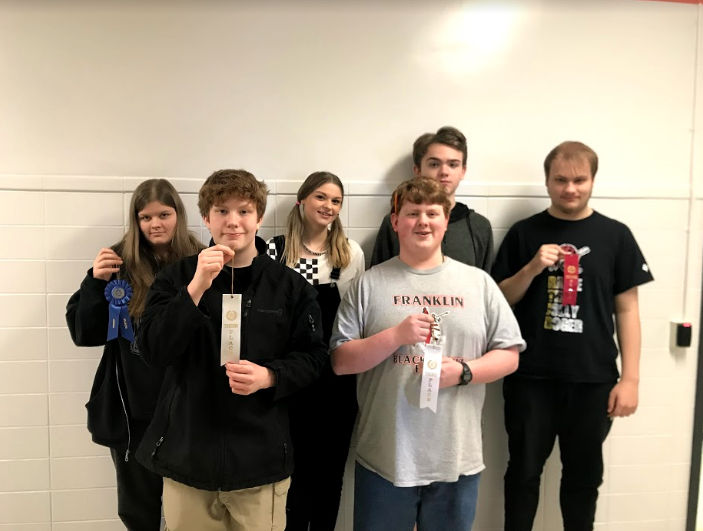 Rocky Grove HS Winners Back Row: Megan Craig, Jake Hellem, Makayla Kerr, Roswell Coke, Nathan Heasley. Front Row: Jake Hellem, Kaleb Moyer Not pictured: Cole Ritchey