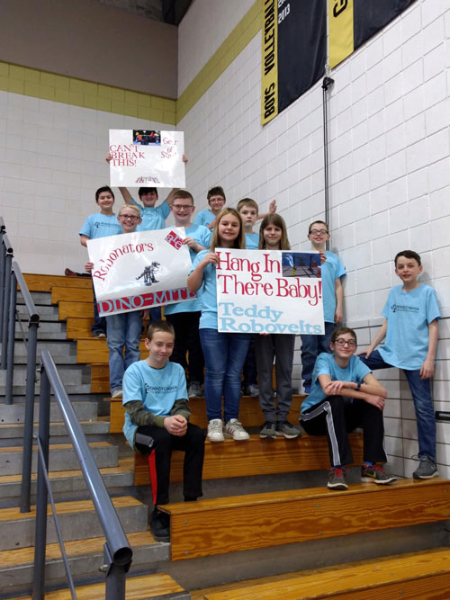 Redbank Valley Robotics students at the VEX V5 and IQ State championships. Courtesy of Redbank Valley Education Association.
