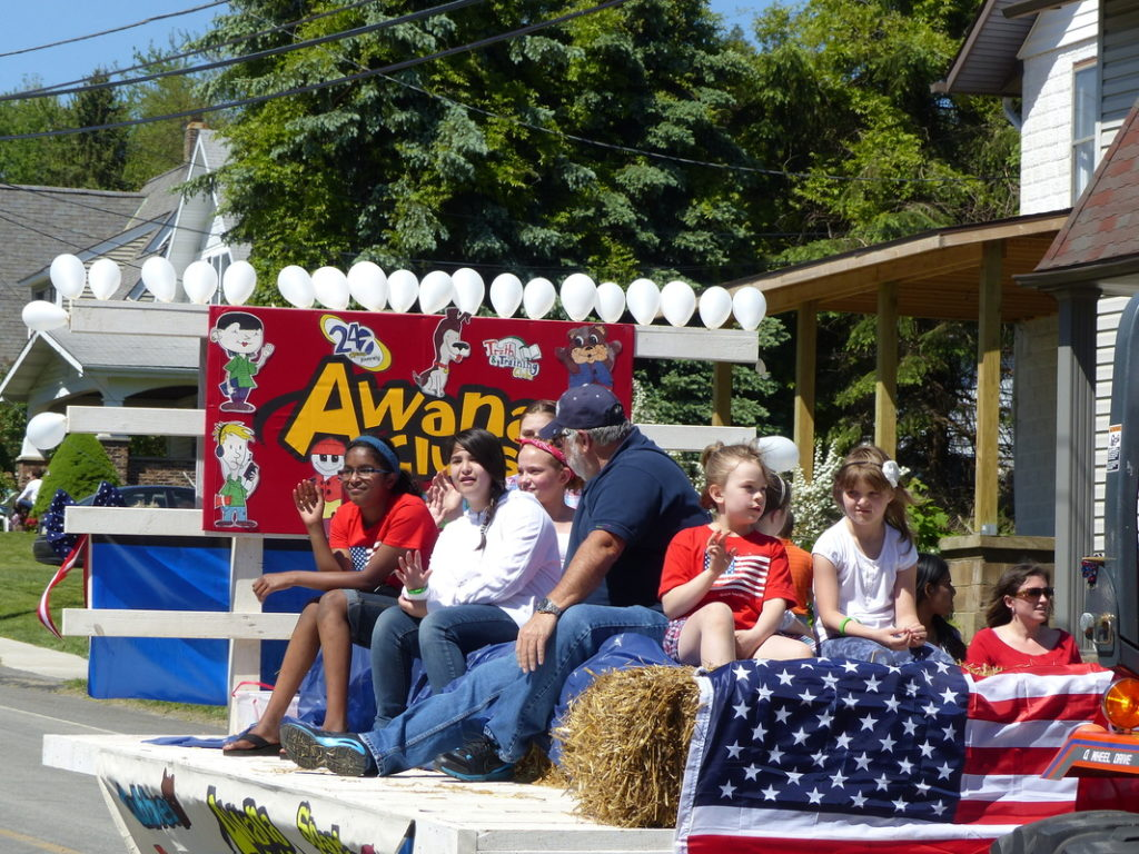 2018 Parade Photo- Venus Evangelical's AWANA Float