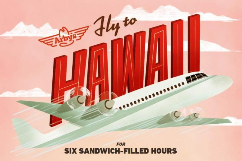 Arbys-selling-trips-to-Hawaii-for-6