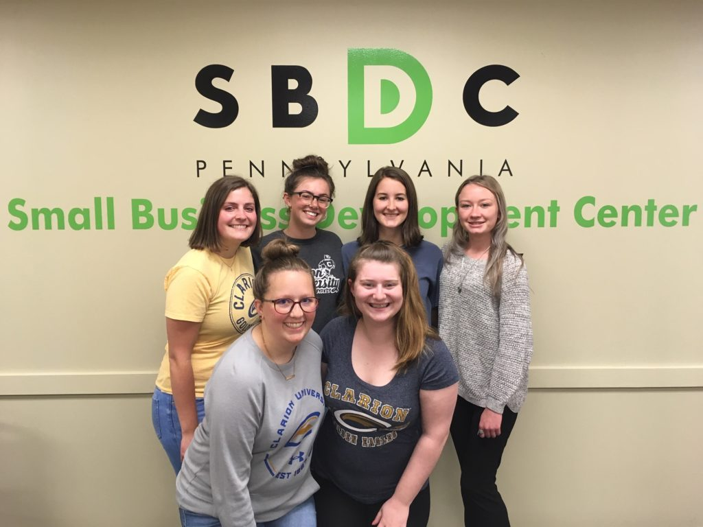 Clarion University Small Business Development Center recently honored their student interns with a luncheon. Courtesy Clarion University SBDC.
