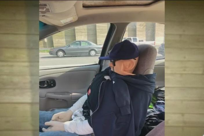 Driver-cited-for-using-mannequin-to-drive-in-carpool-lane
