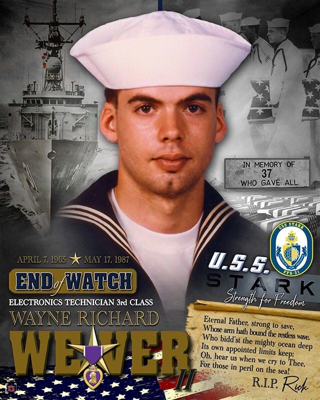 Friday was the 32nd anniversary of the attack on the USS Stark. The USS Stark incident occurred during the Iran–Iraq War on May 17, 1987, when an Iraqi jet aircraft fired missiles at the American frigate USS Stark. Thirty-seven United States Navy personnel were killed, including Clarion County native Wayne Richard Weaver. Submitted by Dave Cyphert.