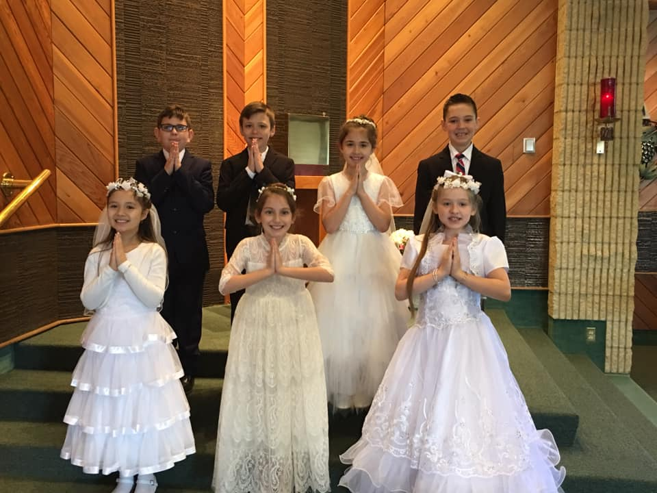 Immaculate Conception School's First Communicants were honored during Mass on Thursday. Courtesy of icclarion.