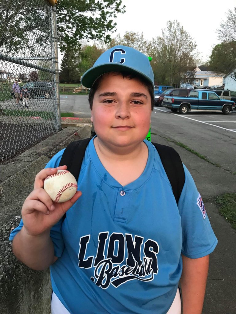Jimmy Kerr hit his first Grand Slam at Monday's Little League game. Submitted by Megan Parker Kerr.