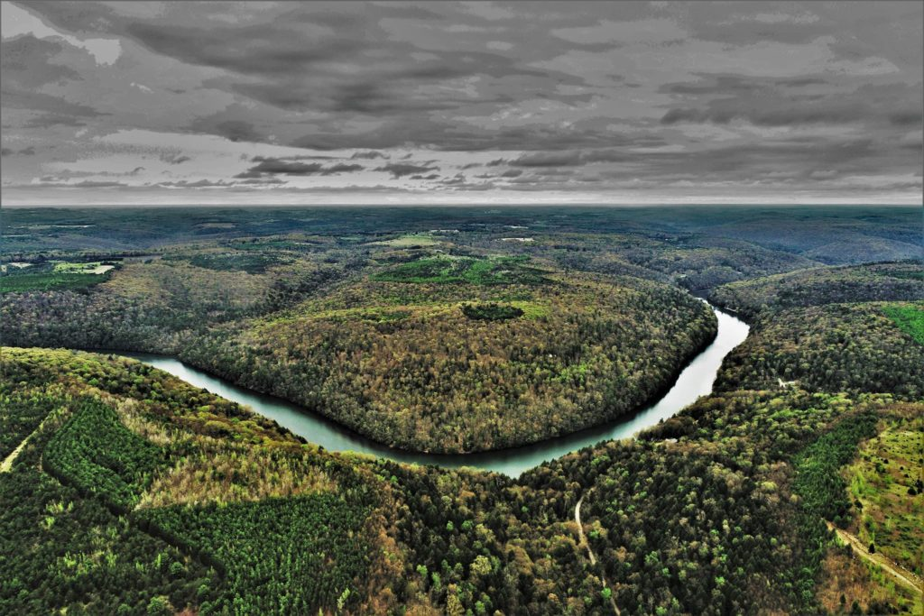 The Clarion River. Courtesy of Shaw Aerial Video Photography.