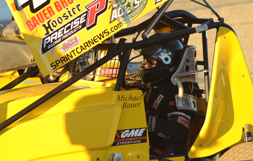 Michael Bauer ready to push off for competition. Photo by Rick Rarer